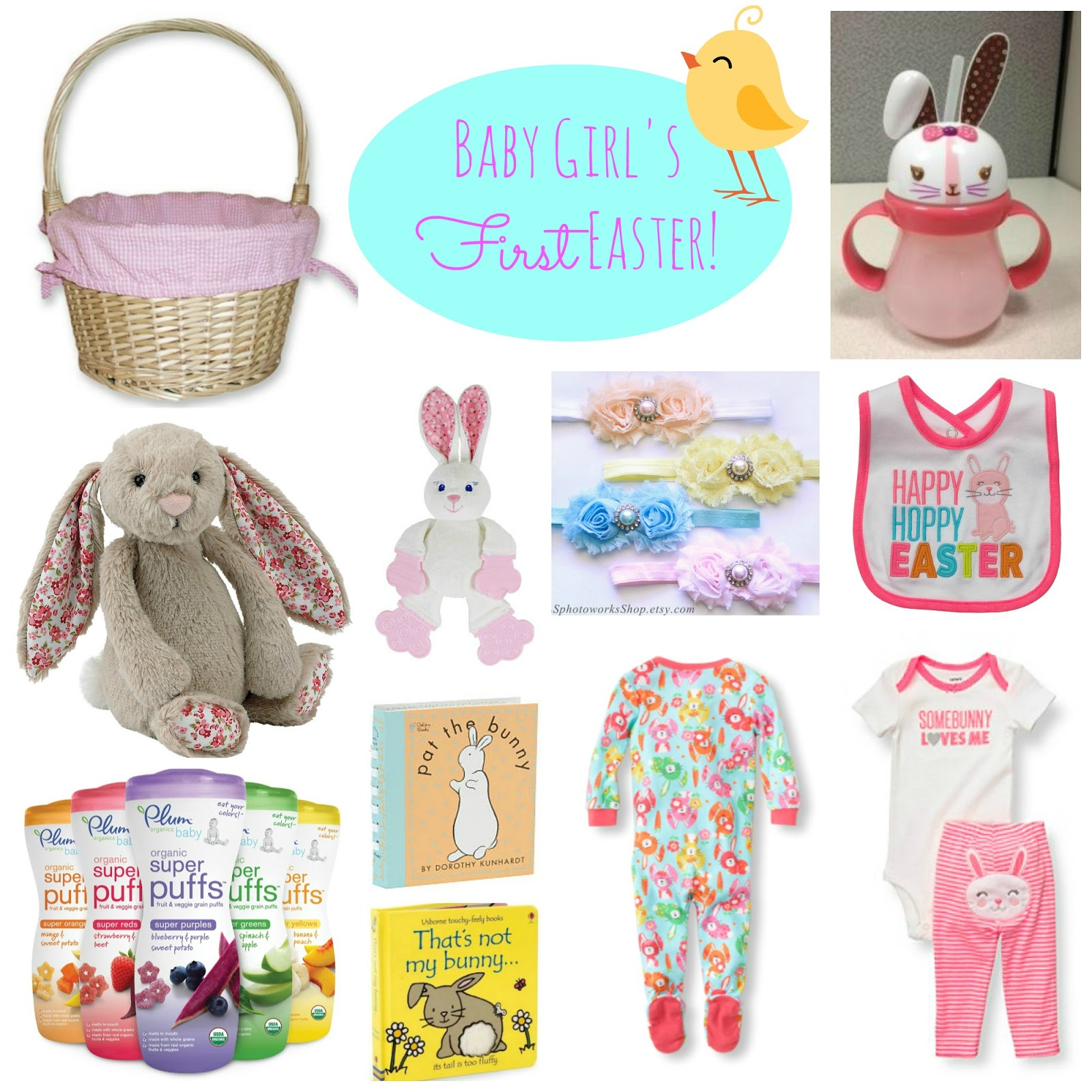 Infant girl easter basket ideas bellaitaliaterneuzen easter basket for baby girl updated negle Image collections