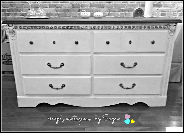 Dresser Makeover - Annie Sloan Pure White