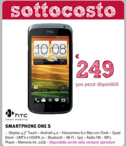 Supermedia promuove la vendita dell'Htc One S al prezzo sottocosto di soli 249 euro