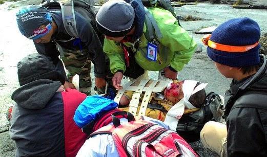 Keadaan pendaki Jepun yang tergelincir di Gunung Kinabalu pagi semalam