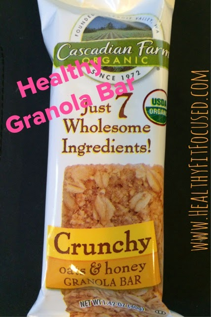 Healthy Granola Bar, www.HeatlhyFitFocused.com