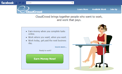 make extra money online CloudCrowd
