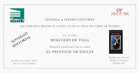 Mercedes firmó su novela El profesor de inglés en la Feria del Libro de Madrid