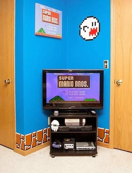 super mario bros themed bedroom
