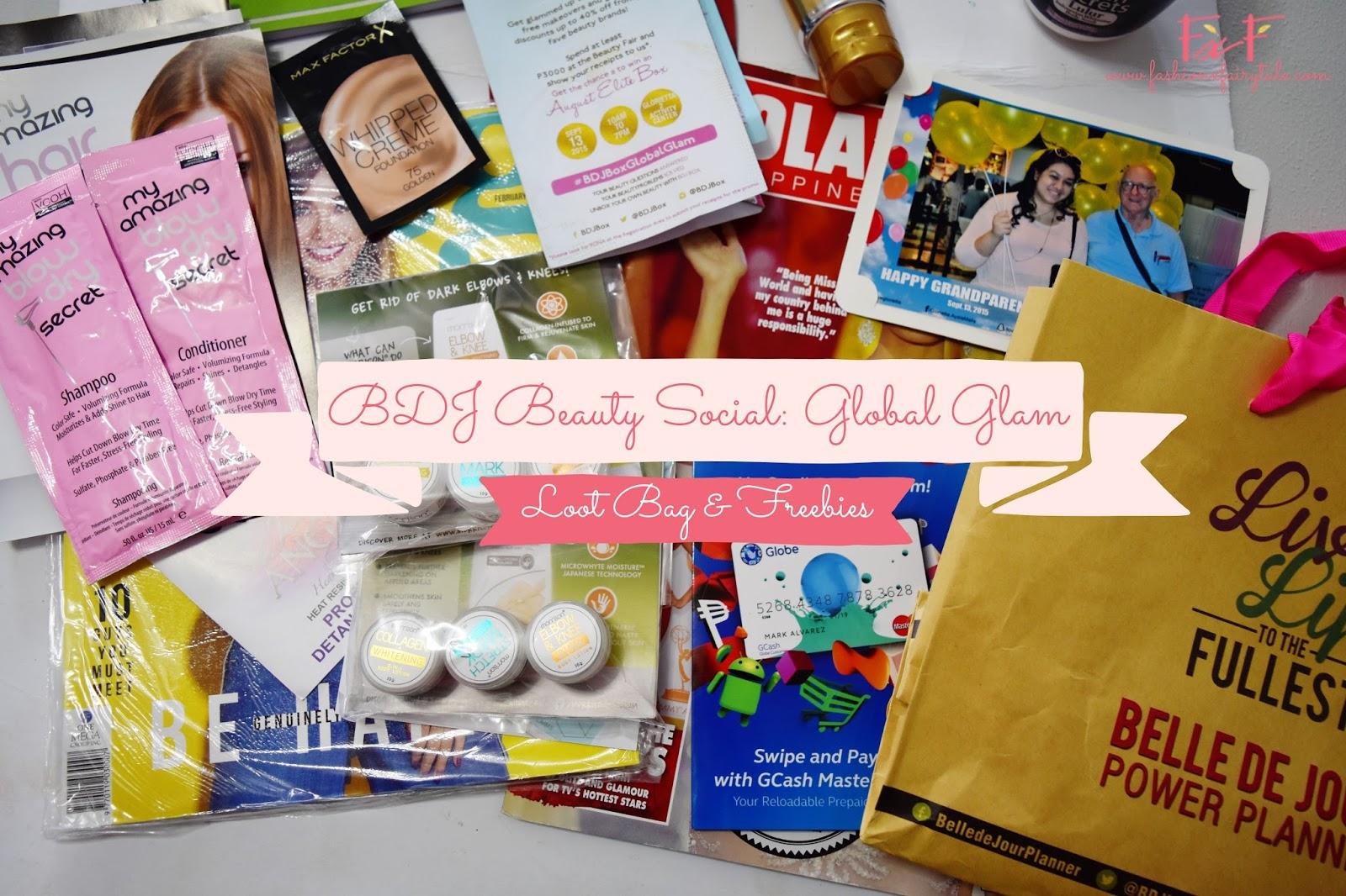 BDJ Beauty Social: Global Glam | Loot Bag & Freebies