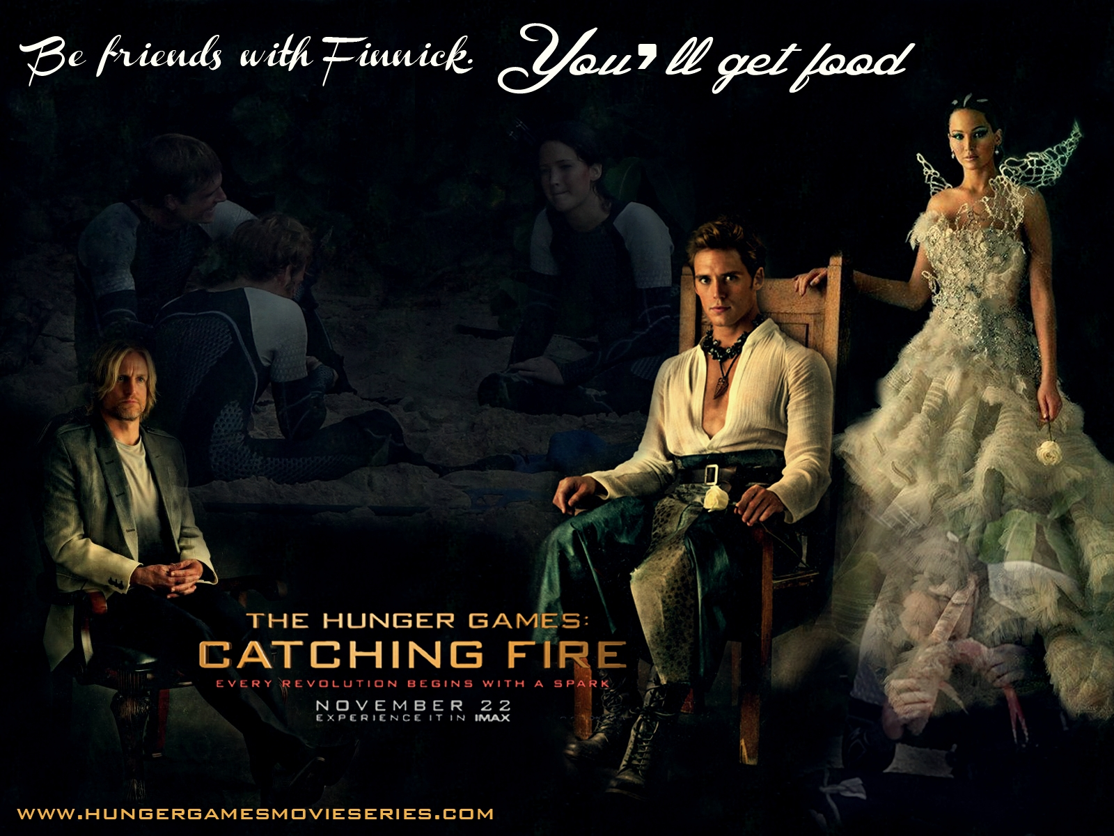 Group Of Catching Fire Wallpaper Finnick