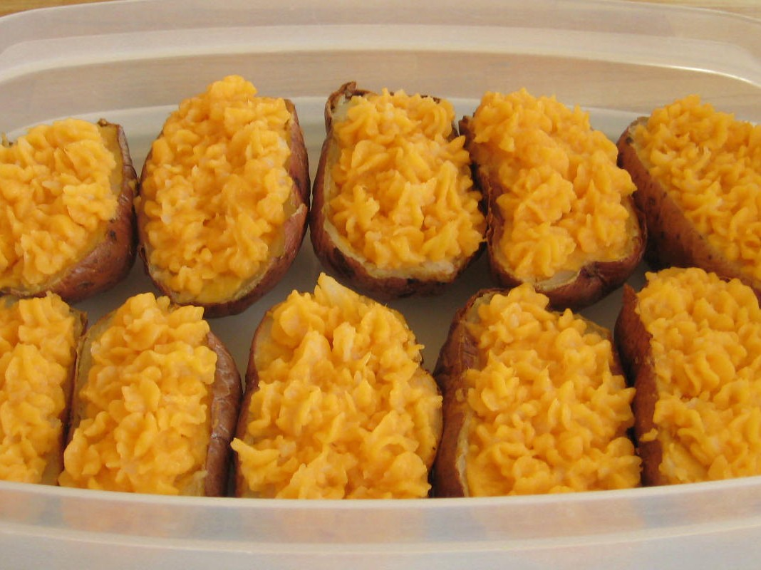 Stuffed Potatoes for the Freezer