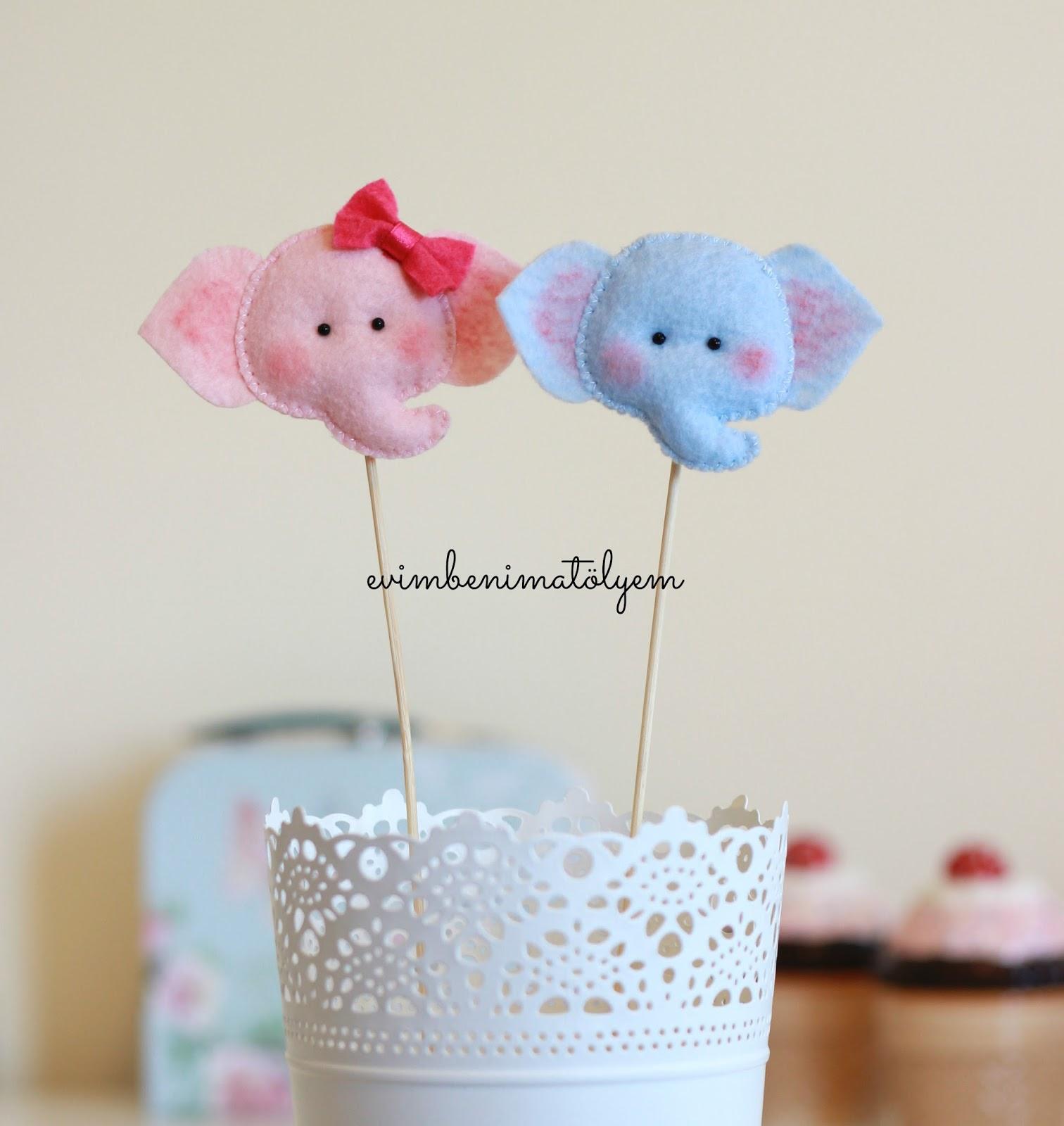 keçe çubuklu fil