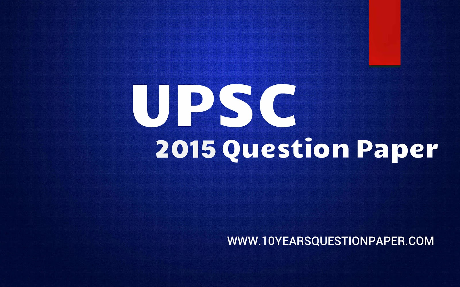 upsc question paper, question paper of upsc