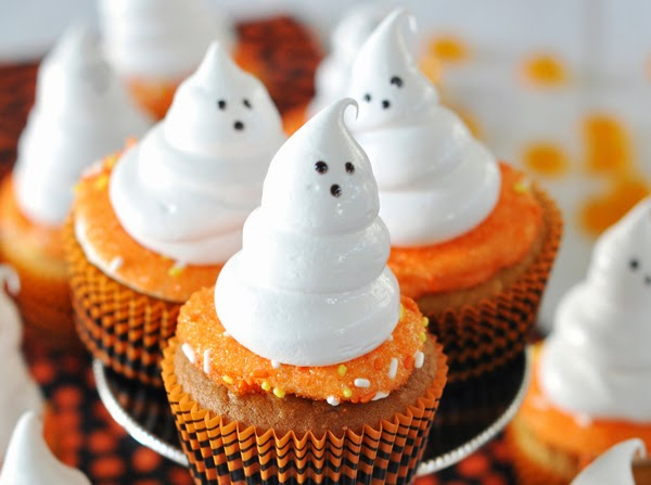 Sweet Potato Cupcakes with Meringue Ghosts