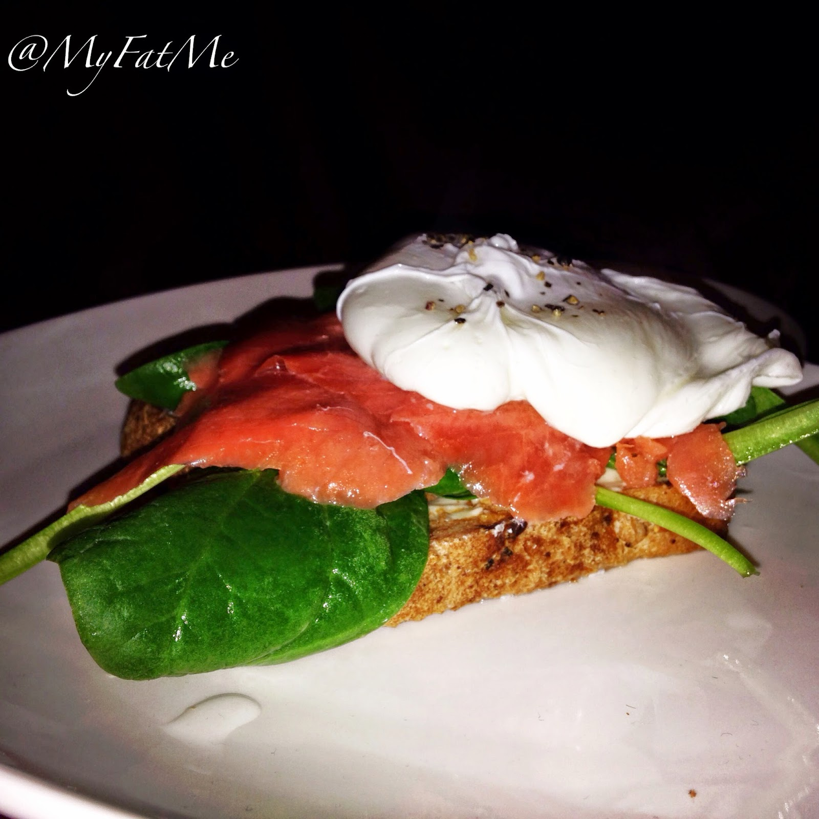 Ds gluten free Toasted Seeded Slice with smoked salmon poached egg