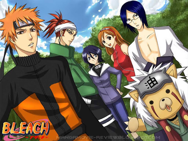 Anime Cross Over Bleach Naruto Wallpaper 0009