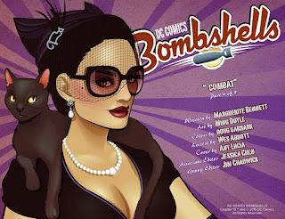 Page 1 of DC Comics Bombshells #13 featuring Selina DiGatti aka Catwoman