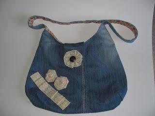 джинсовая сумка, сумка своими руками