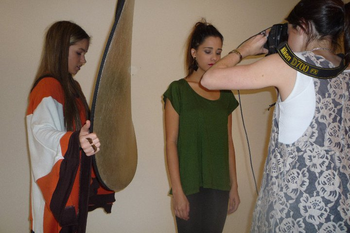 Behind the scenes pics of The Fashion Tunnel Photo Shoot Yesterday!