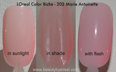 L'Oreal Color Riche - Marie Antoinette swatches