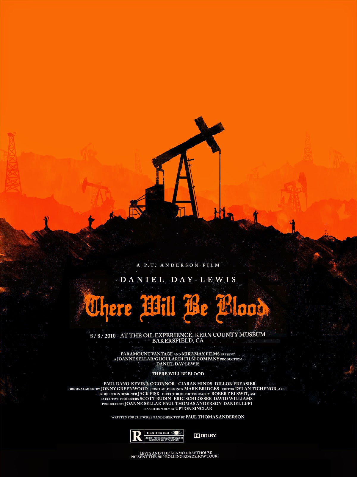 there will be blood dir paul thomas anderson discreet there will be blood american alamo drafthouse poster via flick facts click the poster for a larger image