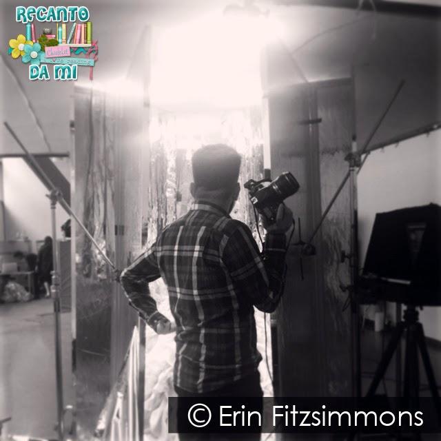 Erin Fitzsimmons Bastidores da sessão de fotos da capa de A Escolha Kiera Cass