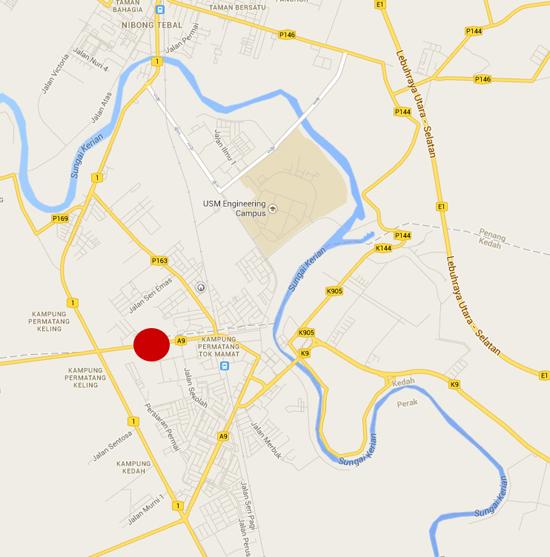 Peta Pasar Kemboja Parit Buntar