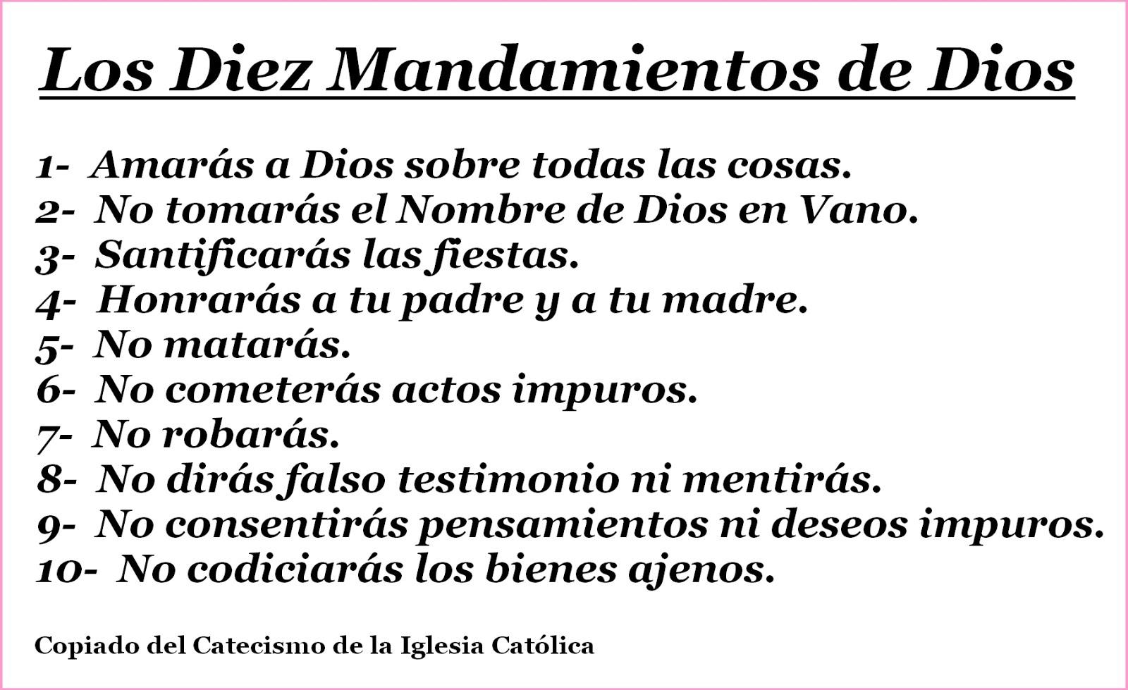 LOS 10 Mandamientos de Dios Padre Yahve