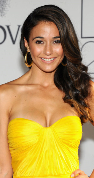 Emmanuelle Chriqui Looks Delightful In Her Canary Yellow Draped David