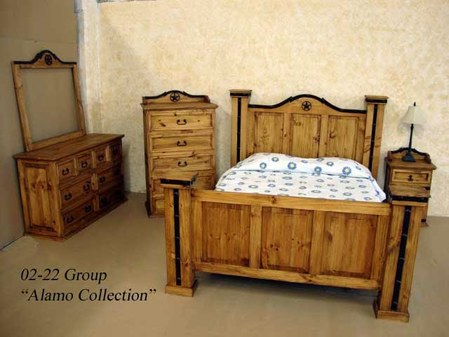 Rustic Pine Bedroom Furniture Sets (5 Image)