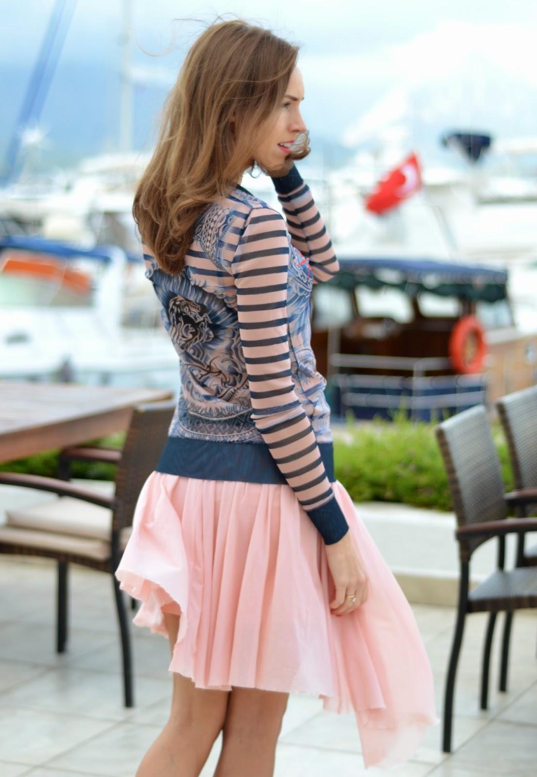 gaultier-lindex-top-bershka-skirt