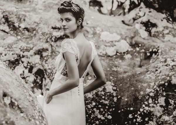 robe de mariée de créateur succès laure sagazan robe fluide ivoire et blanche dans le style moderne vintage parisien vanessa paradis jane birkin