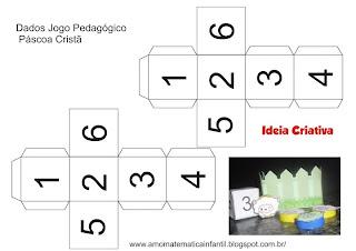 Jogo Pedagógico Páscoa Cristã  número e quantidade