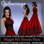 Petites Brocade Gown~ Maggie Red