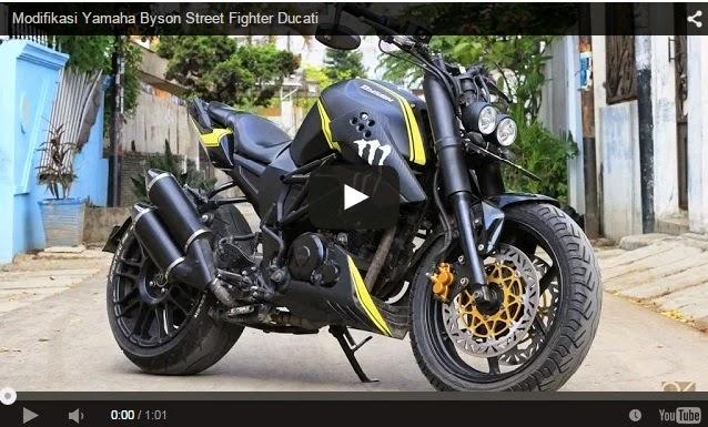 modifikasi byson street fighter ducati  tahun ini