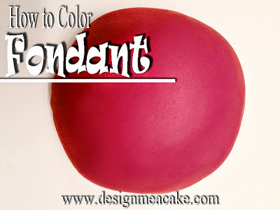 How to Color Red Fondant or Gumpaste