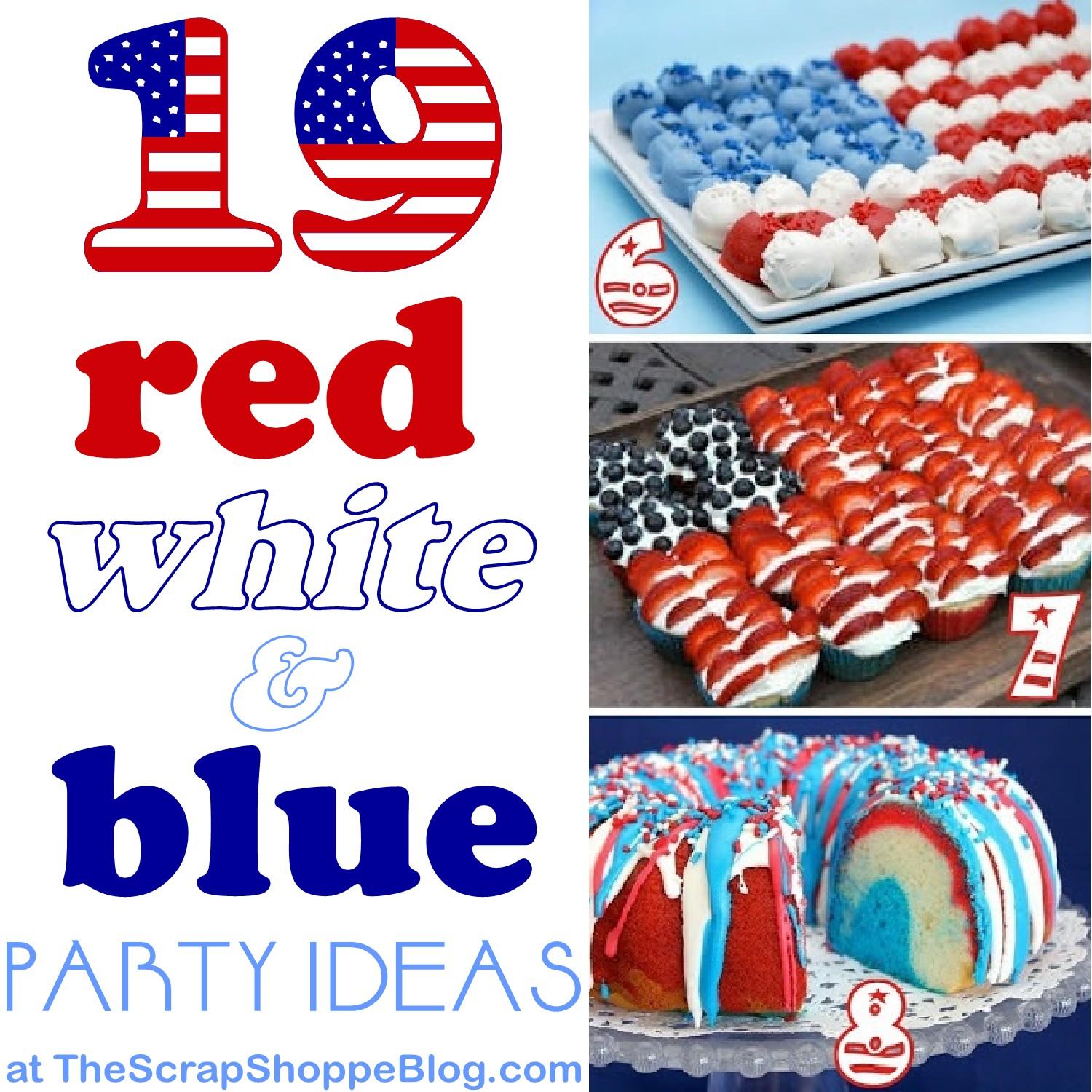 Red white and blue party food ideas - Red white and blue party ideas ...