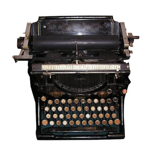 macchina da scrivere vanillasnotes