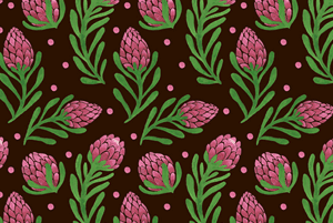 The Sweet Protea Pattern by Haidi Shabrina