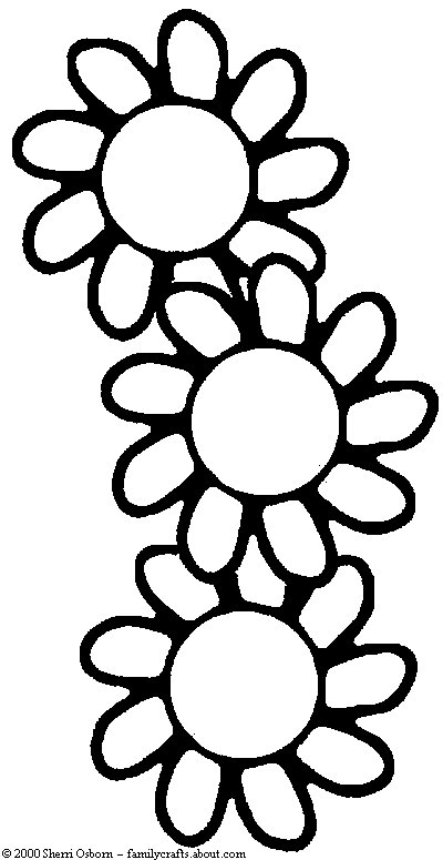 coloring pages about flowers - photo#21