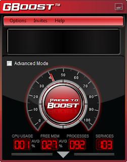 برنامج مجانى لتحسين وتعزيز أداء جهازك الكمبيوتر الخاص بك بنقرة واحدة GBoost 1.0.3.0