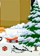 Уборка зимой во дворе - Онлайн игра для девочек