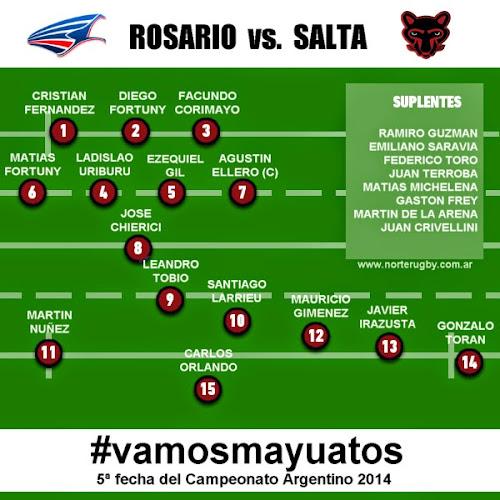 Formación de Los Mayuatos para enfrentar a Rosario