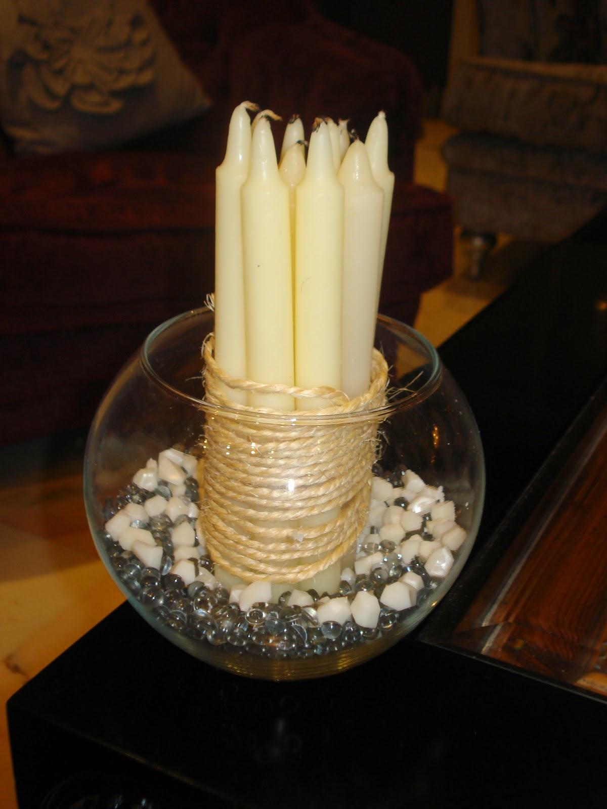 Las casas de pura centros de mesa decorativos - Centros con velas ...