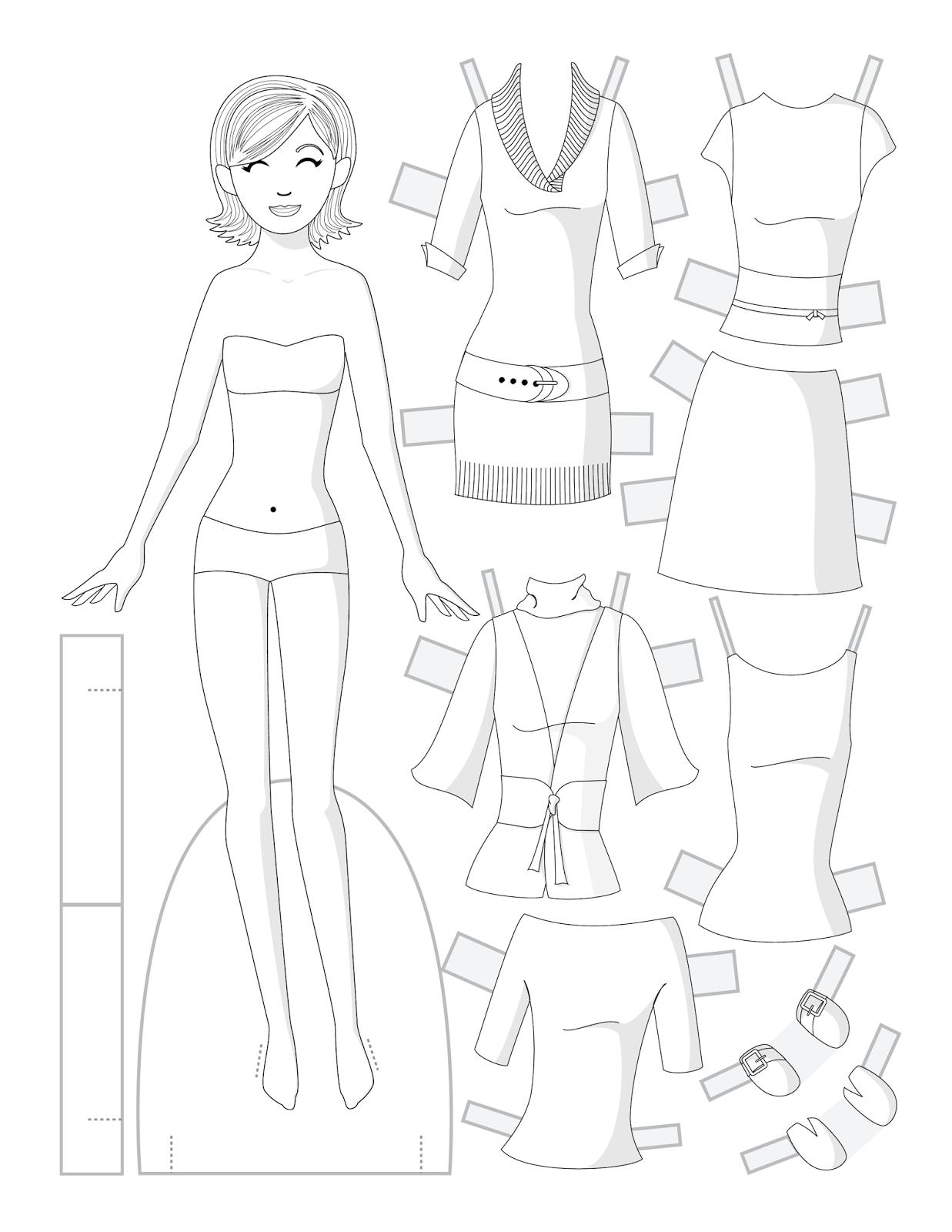 Как сделать куклу из бумаги, бумажные куклы с одеждой 57