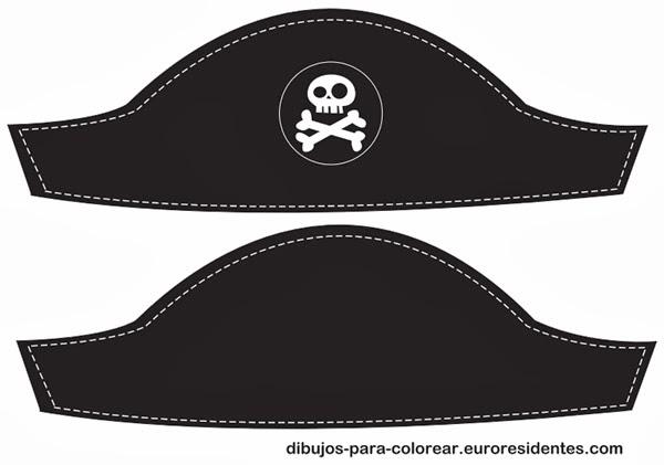 Manualidades: Sombrero pirata para imprimir