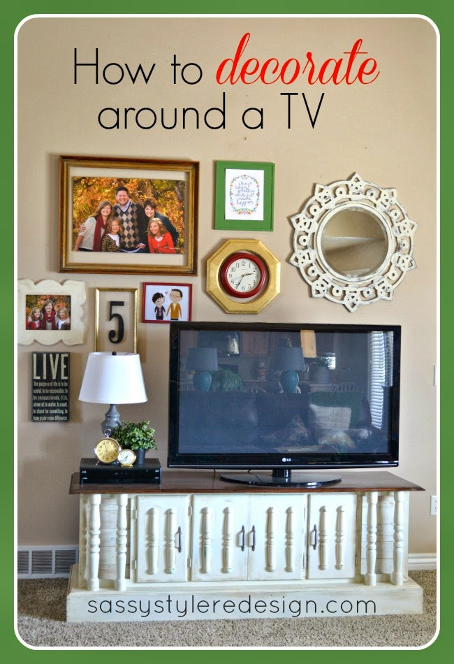 Sassy style how to decorate around a tv