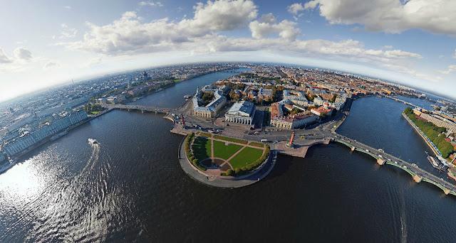 Вид на СПб  из вертолета