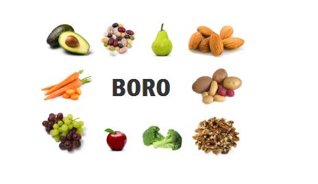 Beneficios do Boro para a saúde
