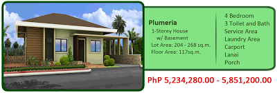 Plumeria 1-Storey Single Detached House w/ Basement 6M 4BR 3TB, Service Area, Laundry Area, Carport, Lanai and Porch House and Lot For Sale Liloan Cebu
