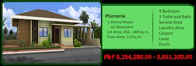 Plumeria 1-Storey Single Detached House w/ Basement 6M 4BR 3TB, Service Area, Laundry Area, Carport, Lanai and Porch House and Lot For Sale Liloan Cebu