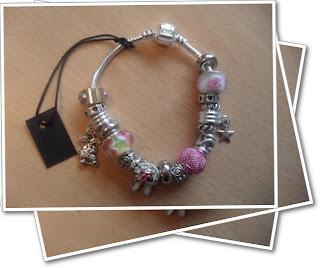 Pink themed bracelet