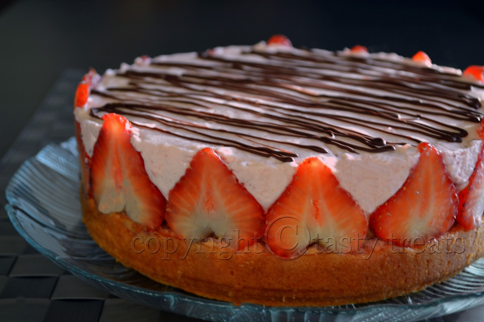 Tasty Treats: Strawberry Chocolate Mousse Cake (Eggless)