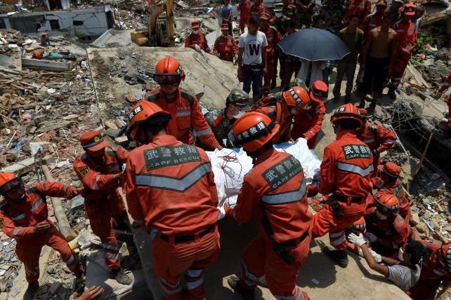 ASCIENDE A 615 LOS MUERTOS POR SISMO EN CHINA, 8 DE AGOSTO 2014